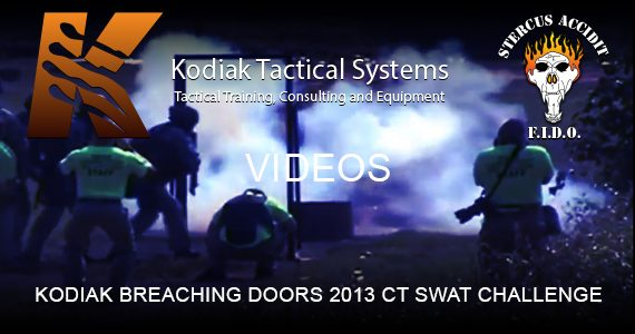KODIAK BREACHING DOORS 2013 CT SWAT CHALLENGE