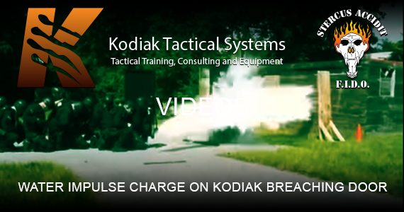 WATER IMPULSE CHARGE ON KODIAK BREACHING DOOR